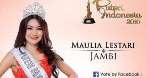 Maulia lestari Finalis Putri Indonesia Asal Jambi