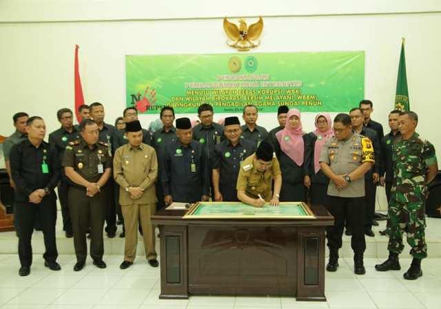 Wali Kota Sungai Penuh Hadiri Deklarasi WBK dan WBBM Lingkup Pengadilan Agama