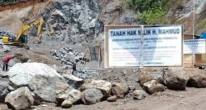 Lokasi Tambang Illegal Milik H. Mahmud di Gunung Raya