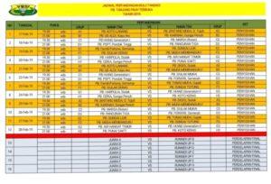 Jadwal Pertandingan