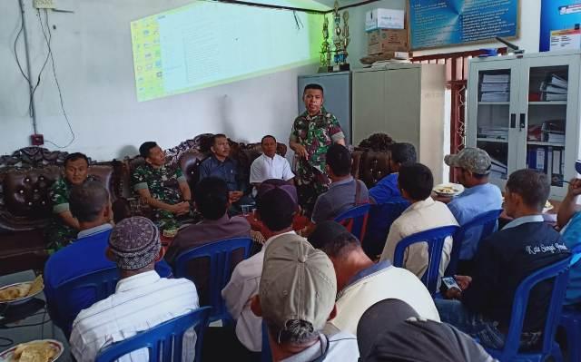 Kodim Kerinci Sosialisasi TMMD ke 104 di Desa Sungai Ning
