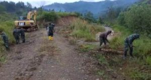 Pekerjaan Jalan oleh TMMD Kerinci di Sungai Ning Terus Dipacu