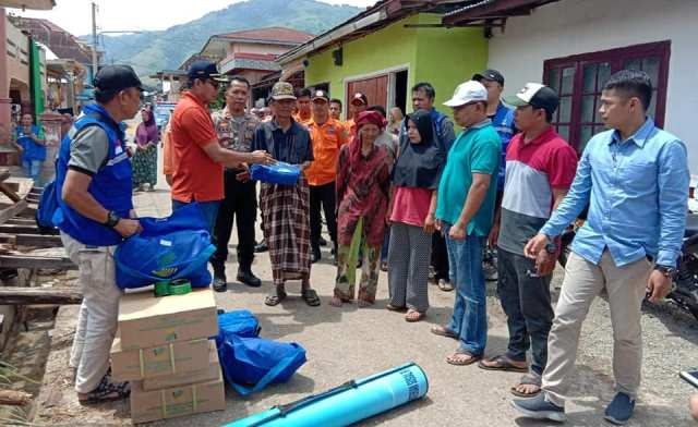 Pemkot Sungai Penuh Bantu Korban Bencana Alam
