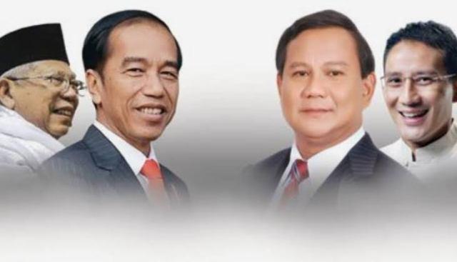 Jokowi-Ma'ruf Vs Prabowo-Sandiaga