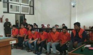 Sembilan Bandar Sabu Divonis Mati Oleh PN Palembang