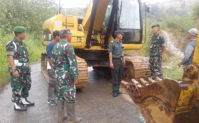 TMMD di Sungai Penuh Bangun Jalan Sepanjang 3,5 KM