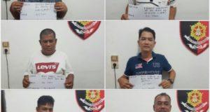 Polisi Amankan 6 Orang Pelaku Judi di Pasar Honkong Jambi
