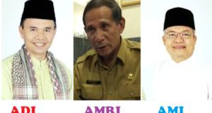 Dari Kiri: Adirozal Bupati Kerinci, Amri Swarta Kadis Pendidikan Kerinci, Ami Taher Wakil Bupati Kerinci