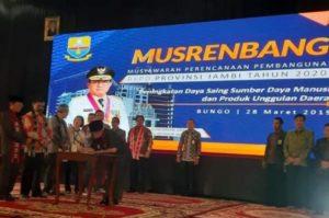 Ami Taher Wabub Kerinci Hadiri Musrenbang RKPD Provinsi Jambi di Bungo