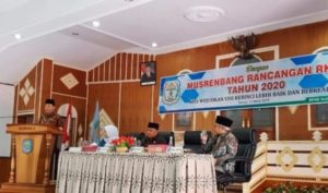Bupati Kerinci Adirozal Buka Musrenbang RKPD 2020