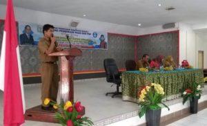 Donfitri Jaya, S.Pd, MM Saat Membuka Sosialisasi BOP di Hotel Mahkota Sungai Penuh Senin 25/03/2019