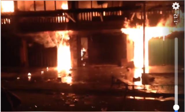 Photo of Ruko Empat Pintu Lawang Agung Terbakar