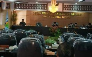 Paripurna Penyampaian LKPJ 2018 Wali Kota di DPRD Kota Sungai Penuh