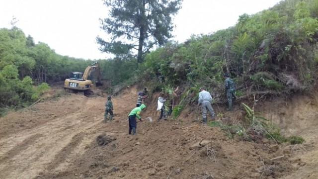 Pekerjaan Tentara Manuggal di Sungai Penuh Capai 50 Persen Lebih