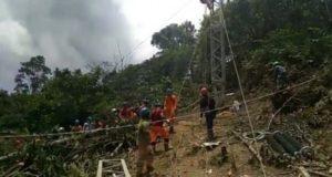 Pembangunan tower Emergency Restoration System (ERS), untuk penormalan kembali aliran listrik.