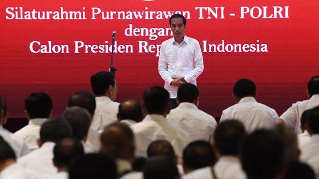 Silaturhamu Purnawirawan TNI-Polri dengan Calon Peresiden Jokowi