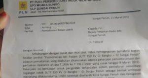 Surat Pemberitahuan Pemadaman Listrik dari PLN