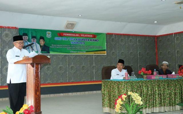 Wabub Ami Taher Buka Pembekalan dan Pelatihan Guru TPA dan TPSA