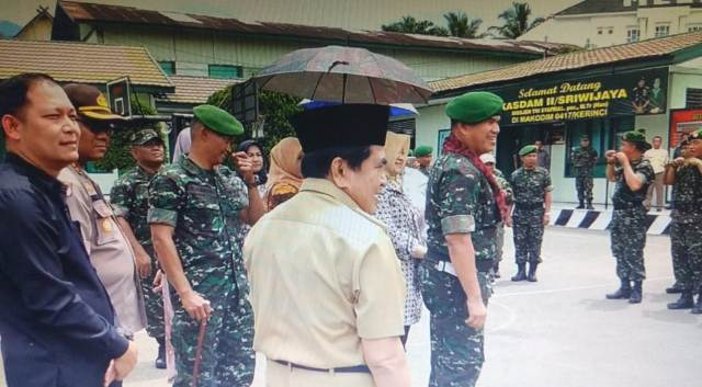 Wako AJB dan Forkompinda Sambut Brigjen Syarial Kasdam II Sriwijaya