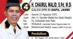 Chairul Walid Caleg DPR RI Putra Kerinci