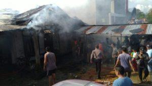 Warung Warga di Sarolangun Terbakar, Akibat Percikan Api Rokok