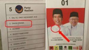surat suara tercoblos di Malaysia