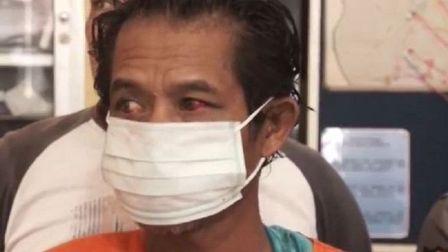 Pelaku di Samarinda pemerkosa 2 anak kandung bergiliran. (Foto: iNews/Fuji Mustopan).