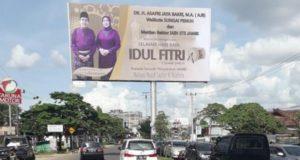 Baliho AJB di Kawasan Jalan Patimura, Kenali Besar Kota Jambi