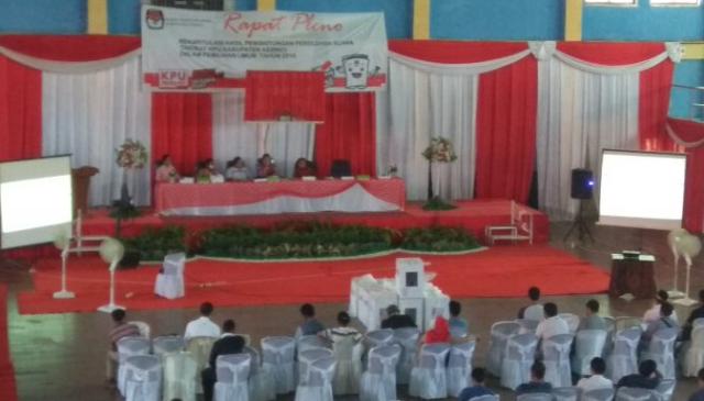 Pleno KPU Kerinci di Gedung Olahraga Sakti Alam Kerinci (GOR-SAK)