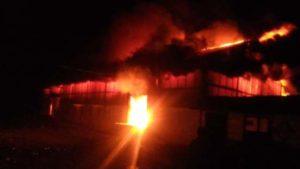Gudang Logistik PTP VI Kayu Aro Kerinci Terbakar