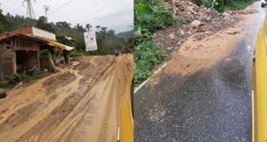 Jalan Muara Imat Perbatasan Kerinci – Bangko Longsor