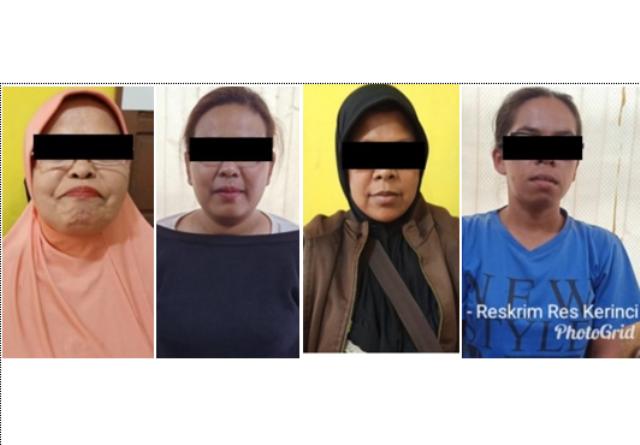 Judi Kartu Remi, Seorang Nenek dan 3 Emak-Emak di Sungai Penuh Diamankan Polisi