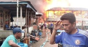 Kebakaran di Nipah Panjang. Foto: Jambidaily.com