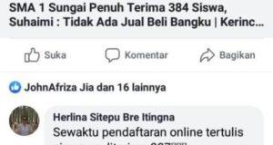 Komentar Nitizen Soal PPDB SMA 1 Sungai Penuh