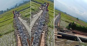 Proyek Irigasi BWSS VI Jambi di Semerah Dikerjakan Asal-asalan