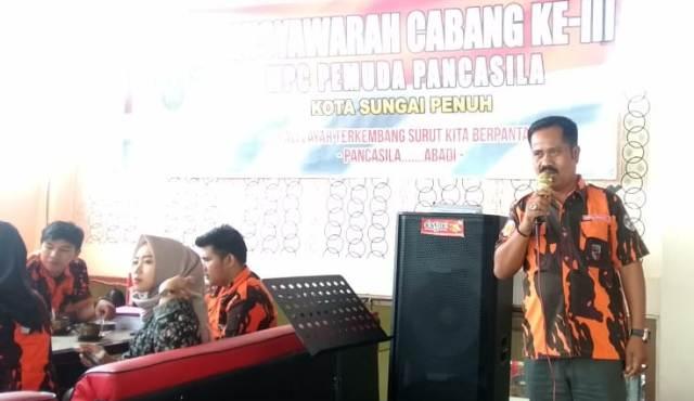 Toni Indrayadi Ketua MPC Pemuda Pancasila Sungai Penuh