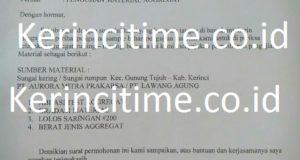 Uji LAB Material Aggregat Jalan Nasional Sungai Penuh – Letter W Dilakukan