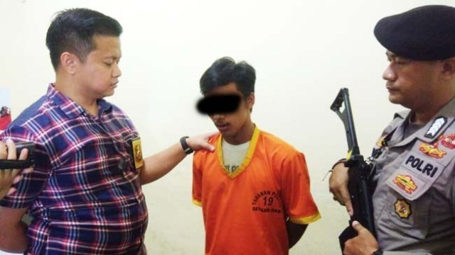 Wahyu Warga Tembesi Yang Larikan Gadis 17 Tahun di Polres Batanghari