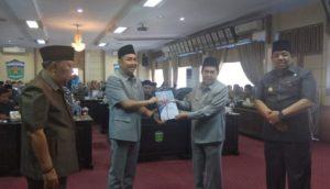 Wali Kota Sungai Penuh Sampaikan Rancangan KUA PPAS 2020