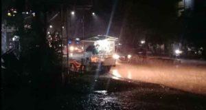 Muara Bungo, diguyur hujan deras, sekira pukul 19.35 Wib, Jumat (16/08/2019)