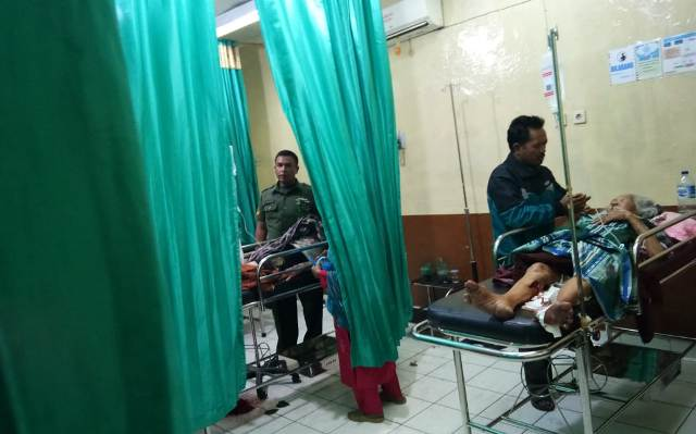 Korban Serangan Babi saat di RSUD MHA Thalib