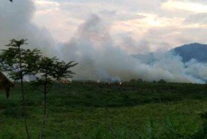 Kebakaran Lahan Gambut di Lempur Gunung Raya