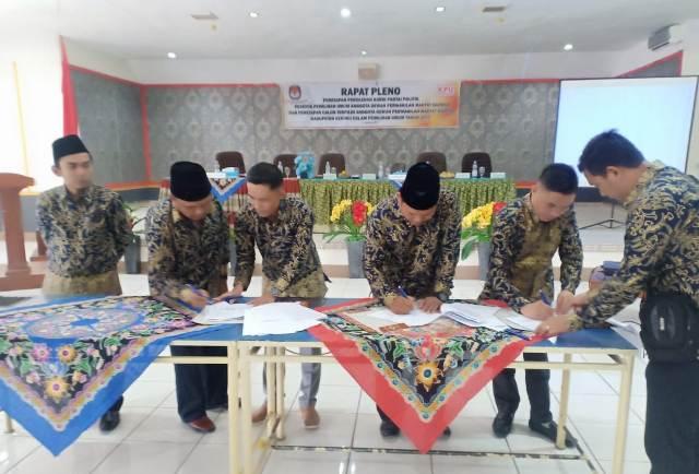 Penetapan 30 Calon Terpilih Anggota DPRD Kerinci