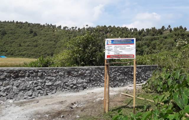 Lokasi Proyek Tembok Penahan Gunung Pandan