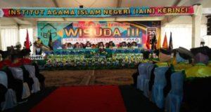 IAIN Kerinci Gelar Rapat Senat Terbuka Wisuda ke-III tahun 2019