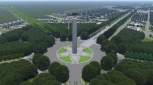 Lapangan dan Monumen Pancasila Ibu Kota Baru. (Dok: Kementerian PUPR)