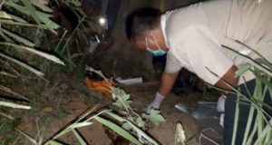 Lokasi jasad bayi terkubur di pinggir Sungai Batang Merangin. Foto: Brito.id