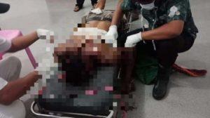 Korban saat diperiksa petugas. Foto: Sidakpost.id