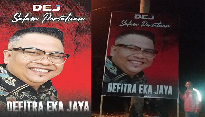 """Photo of Baliho """"SALAM PERSATUAN"""" DEJ, Berdiri Kokoh Di Sepanjang Jalan Kota Sungai Penuh"""
