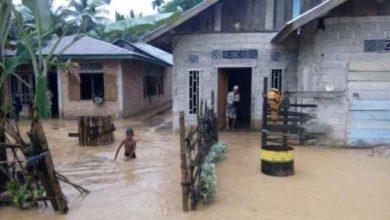 Photo of Ratusan Rumah Tiga Kecamatan di Bungo Terendam Banjir